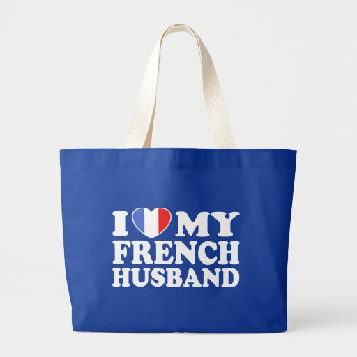 French Husband Large Tote Bag