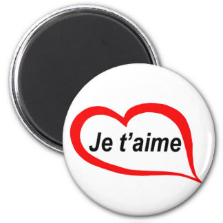 French I love you 2 Inch Round Magnet