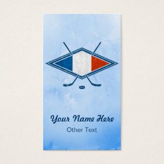 French Ice Hockey Flag Custom Business Cards