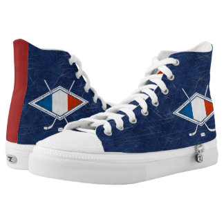French Ice Hockey Logo High Tops Sneakers
