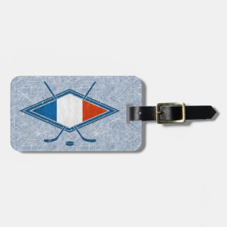 French Ice Hockey Luggage Tag Template