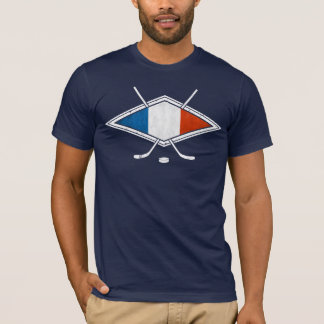French Ice Hockey T-Shirt with Name & Number