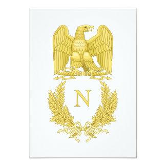 French Imperial Emblem Napoleon I invitation card