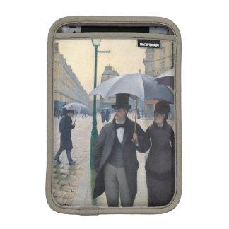 French Impressionism Paris Street Rainy Day iPad Mini Sleeve