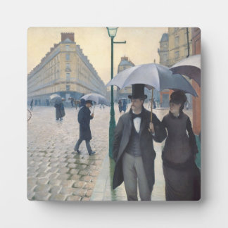French Impressionism Paris Street Rainy Day Display Plaques