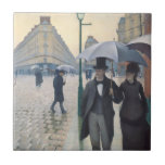 French Impressionism Paris Street Rainy Day Small Square Tile