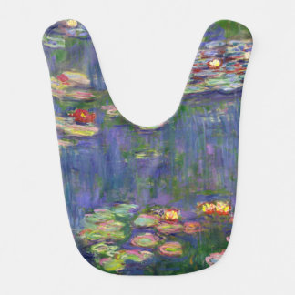 French Impressionist Monet Water Lilies Baby Bib