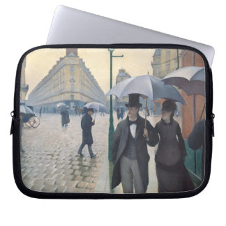 French Impressionist Painting Paris A Rainy Day Laptop Sleeve