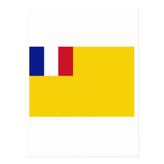 French Indochina Flag (1887-1954) Postcard