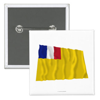 French Indochina Waving Flag (1887-1954) Buttons