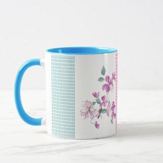 French Inspiration Clodine Floral Spray Mug