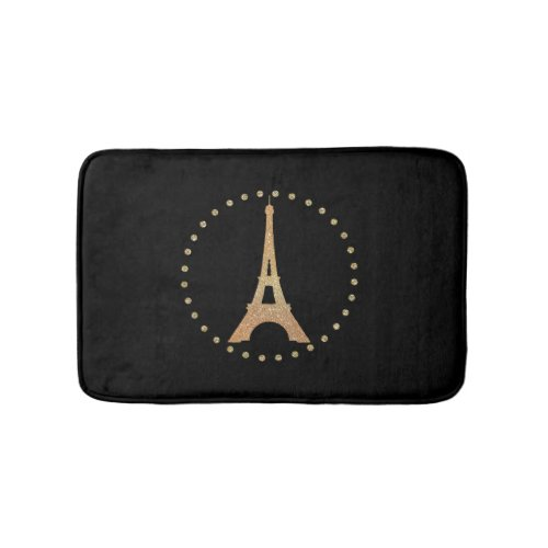 French Inspired Black Bath Mat