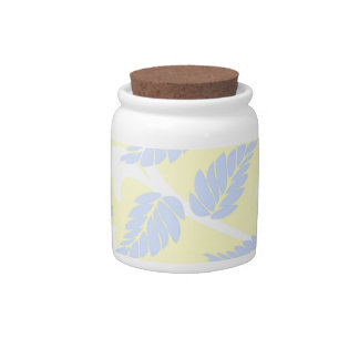 French Inspired Leaves Candy Jars