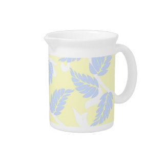 French Inspired Leaves Drink Pitcher