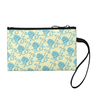 French Inspired Roses Coin Purse