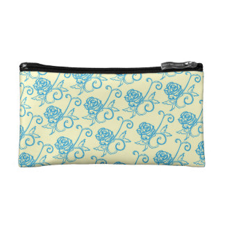 French Inspired Roses Cosmetic Bag