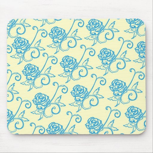 French Inspired Roses Mouse Pad