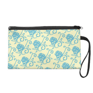 French Inspired Roses Wristlet Purse