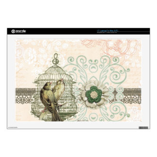 French Inspired Shabby Chic Bird Cage Laptop Skin