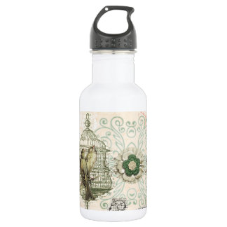 French Inspired Shabby Chic Bird Cage 18oz Water Bottle