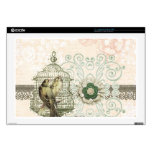 """French Inspired Shabby Chic Bird Cage Decals For 17"""" Laptops"""