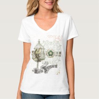 French Inspired Shabby Chic Bird Cage Tee Shirt