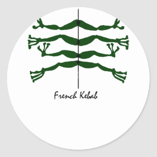 french kebab round stickers