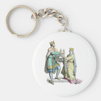 French king and queen keychain