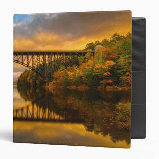 French King Bridge in Fall 3 Ring Binder