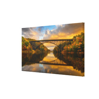 French King Bridge in Fall Canvas Print