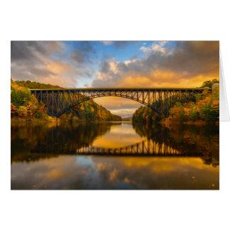 French King Bridge in Fall Card