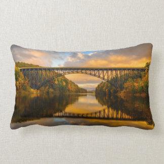 French King Bridge in Fall Lumbar Pillow