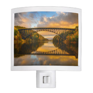 French King Bridge in Fall Night Light