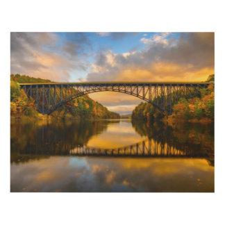 French King Bridge in Fall Panel Wall Art