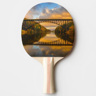 French King Bridge in Fall Ping-Pong Paddle