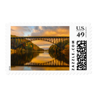 French King Bridge in Fall Postage