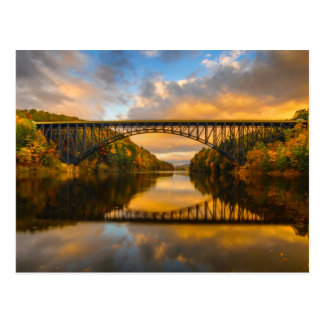 French King Bridge in Fall Postcard