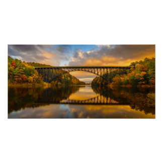 French King Bridge in Fall Poster