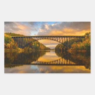 French King Bridge in Fall Rectangular Sticker