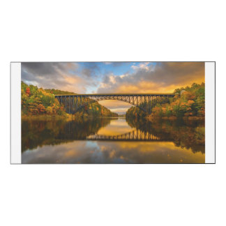 French King Bridge in Fall Wood Wall Art