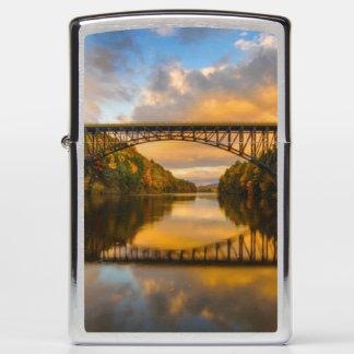 French King Bridge in Fall Zippo Lighter