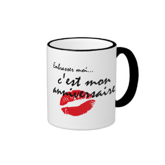 French Kiss Me Birthday Mug