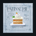 """French Kitchen Decor Canvas, Carrot Cake<br><div class=""""desc"""">This yummy gateau a la carotte  is on a fresh blue background,  and adds a French touch to the room. This Patisserie art is part of a series I have done. A beautiful collection for your wall! &#169;Fiona Stokes Gilbert All Rights Reserved</div>"""