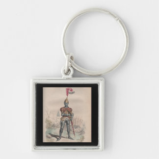 French knight in full plate armor keychain