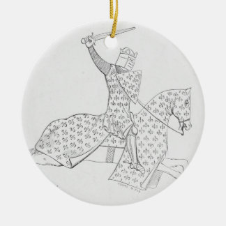 French Knight Christmas Ornaments