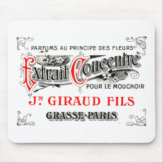French labe art mouse pad