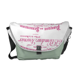 French Label Art Commuter Bag