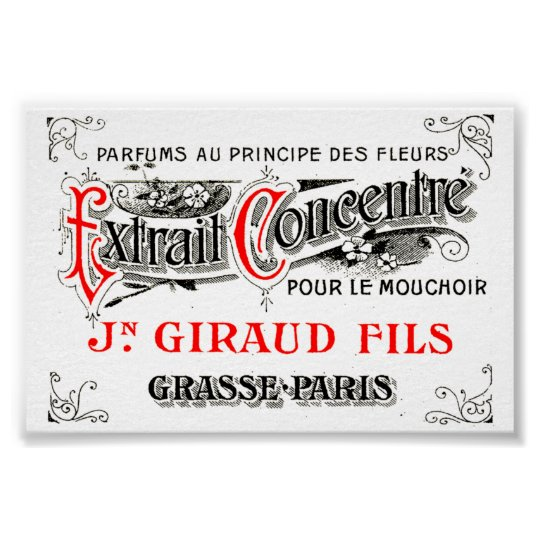 French label art mini print