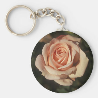 French Lace Basic Round Button Keychain