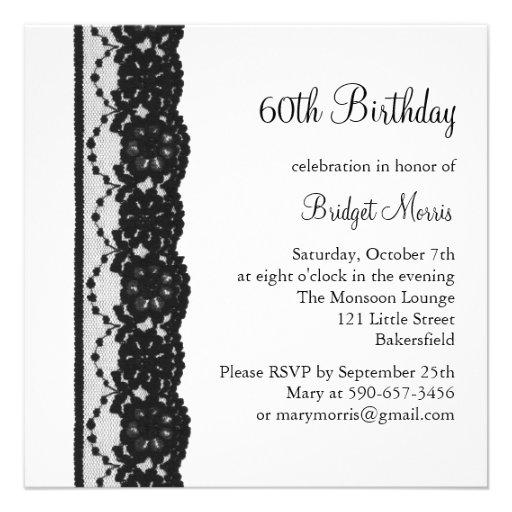 French Lace Birthday Invitation (white)